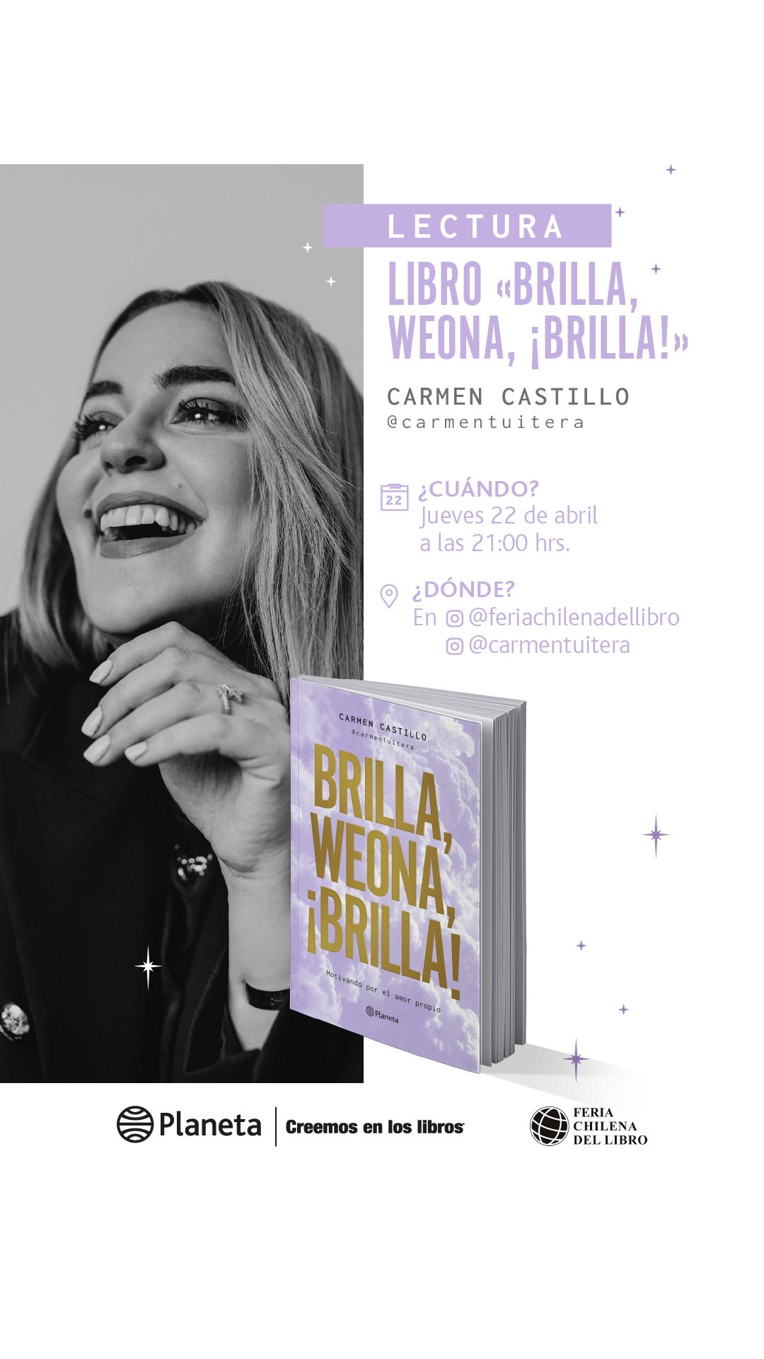 """22.04 Lectura libro """"Brilla, weona, ¡brilla"""""""